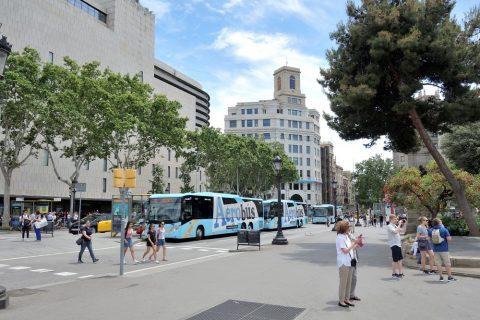 aerobus-barcelona/カタルーニャ広場の乗り場