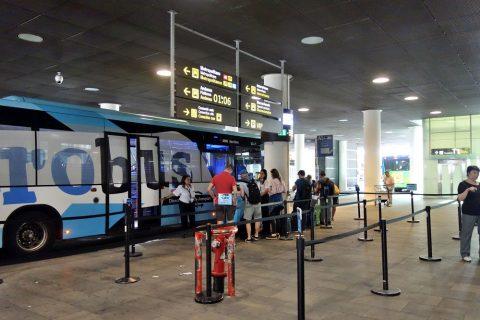 aerobus-barcelona/乗り場
