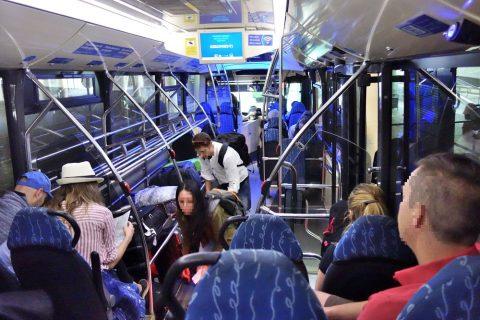 aerobus-barcelona/車内
