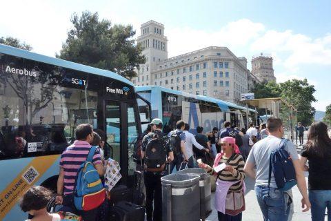 aerobus-barcelona/カタルーニャ広場までの所要時間