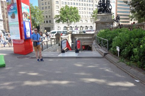 カタルーニャ駅入口