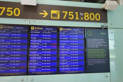 バルセロナ空港時刻表