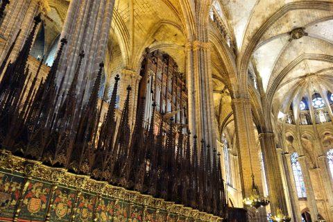 バルセロナ大聖堂のパイプオルガン