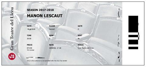 リセウ劇場チケット