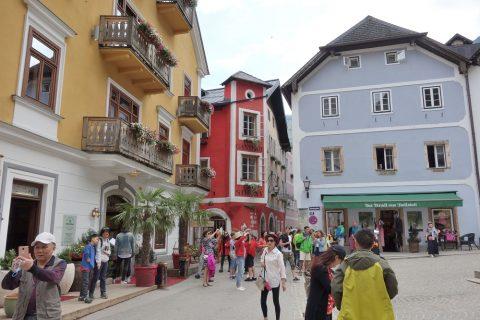hallstatt/カラフルな街