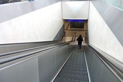 Attnang-Puchheim駅のエスカレーター