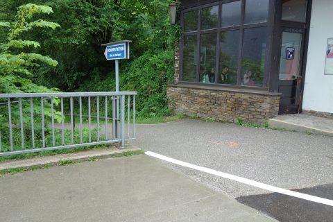 ハルシュタット駅から舟への入口