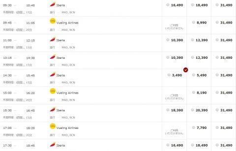 イベリア航空格安運賃