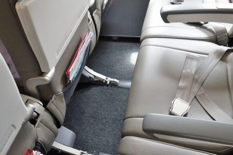 イベリア航空エコノミークラスの足元