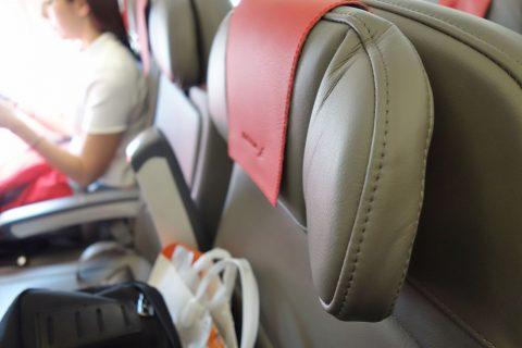 イベリア航空エコノミークラスのヘッドレスト