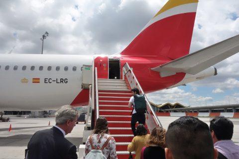 イベリア航空へ機内後方から搭乗