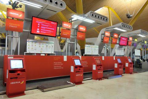 マドリード空港自動チェックイン機