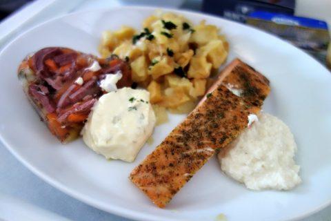 機内食のメイン料理/ルフトハンザ