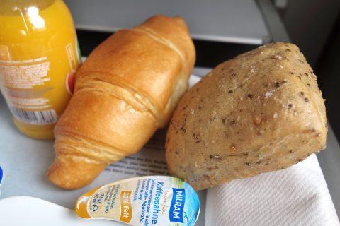 パン/ルフトハンザ航空ビジネスクラス機内食