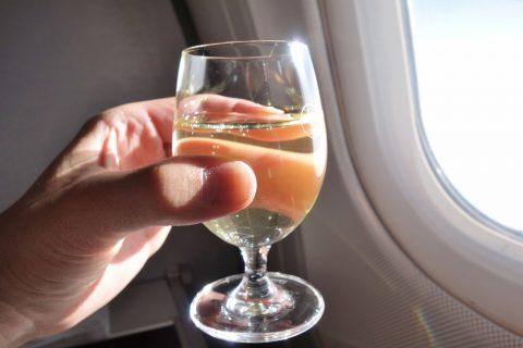 シャンパン/ルフトハンザ航空ビジネスクラス機内食
