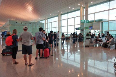 バルセロナ空港の搭乗口