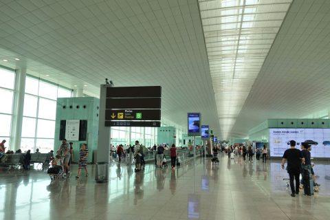バルセロナ空港出発