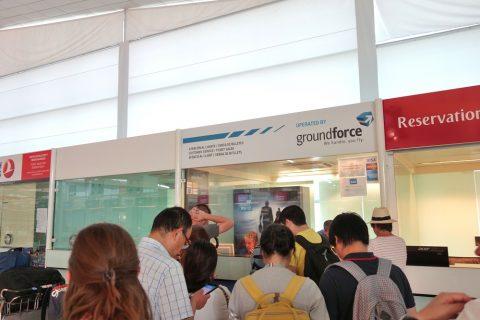 バルセロナ空港のグラウンドフォースカウンター