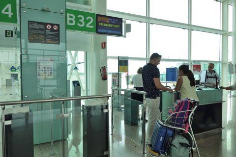 バルセロナ空港搭乗ゲート