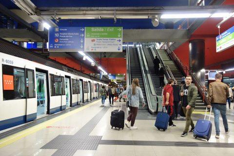 madrid-airport-access/メトロの乗り換え