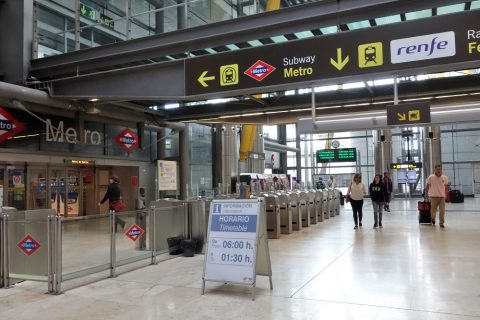 madrid-airport-access/T4階札口