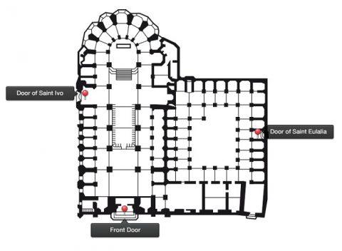 バルセロナ大聖堂MAP