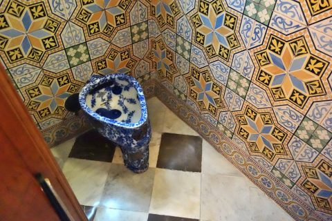 グエル邸のトイレ