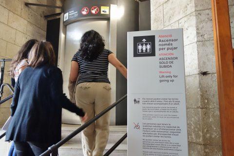 sagrada-familia/タワーへのエレベーター