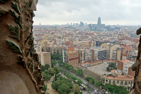 sagrada-familia/タワーからの眺望