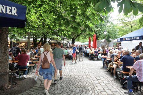 ミュンヘンのレストラン街