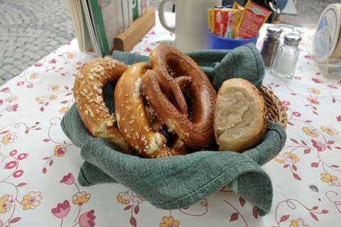 Bratwurstherzl-munich/パンのバスケット