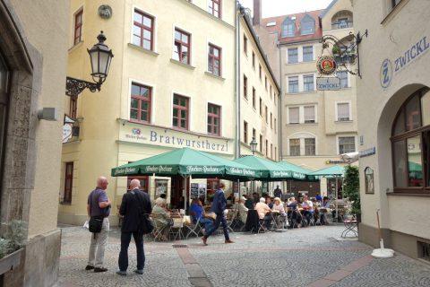 ミュンヘン/テラス席のレストラン