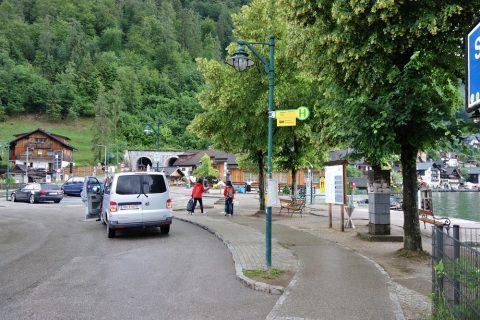 ハルシュタットのバス停