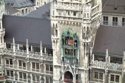 ペーター教会展望台から眺めるグロッケンシュピール