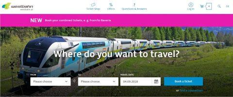 WESTbahnホームページ