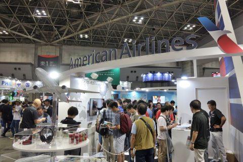 ツーリストEXPOジャパンのアメリカン航空ブース
