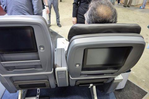 アメリカン航空プレエコのリクライニング