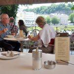 ザルツブルク《Café BAZAR》美味しいランチをテラス席で!