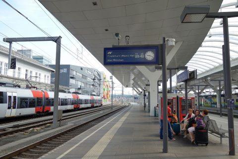 ザルツブルク駅プラットホーム