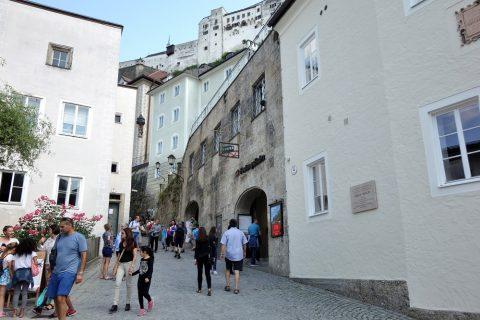 ザルツブルク城のケーブルカー乗り場