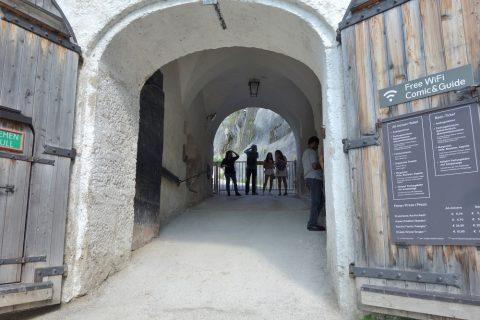 ザルツブルク城のエントランス