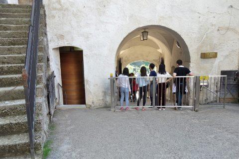 ザルツブルク城の出口