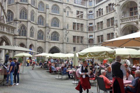 ミュンヘン新市庁舎の中庭