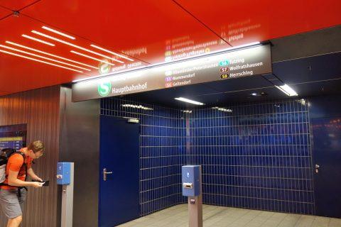 ミュンヘン地下鉄の改札