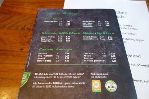 organic-pizza-salzburg/ドリンクメニュー