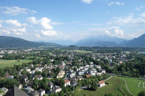 ザルツブルク城からの眺め