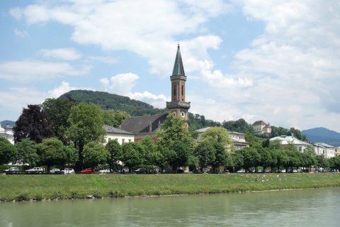 ザルツァハ川の景色