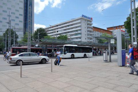 ザルツブルク中央駅バスターミナル