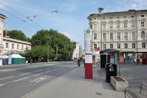 ザルツブルクのバス停