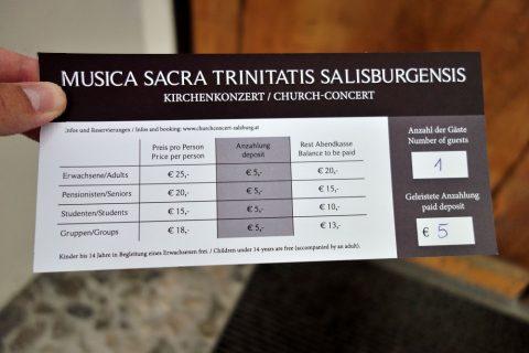 聖トリニティ教会コンサートチケット